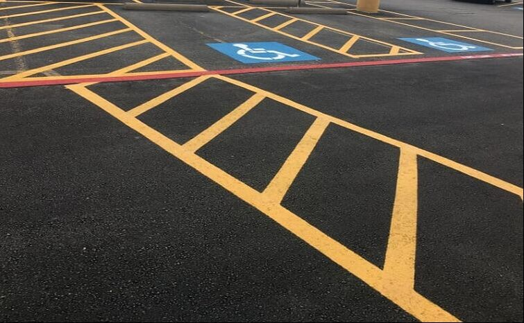 Parking lot pavement striping Norman, Oklahoma